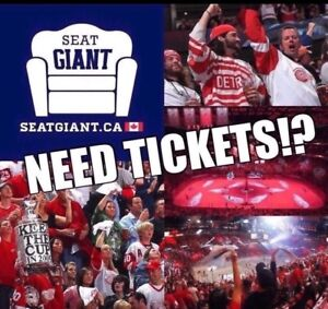 DETROIT RED WINGS TICKETS TONIGHT VS ANAHEIM FROM $26!!!