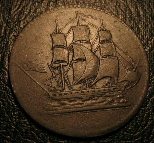 1829 Prince Edward Island Colonial Commerce Canada Token US Flag Breton 997