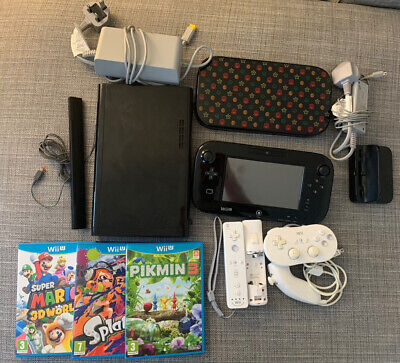 Nintendo Wii U PAL 32GB Console Bundle With Games, Wii Games, Controllers