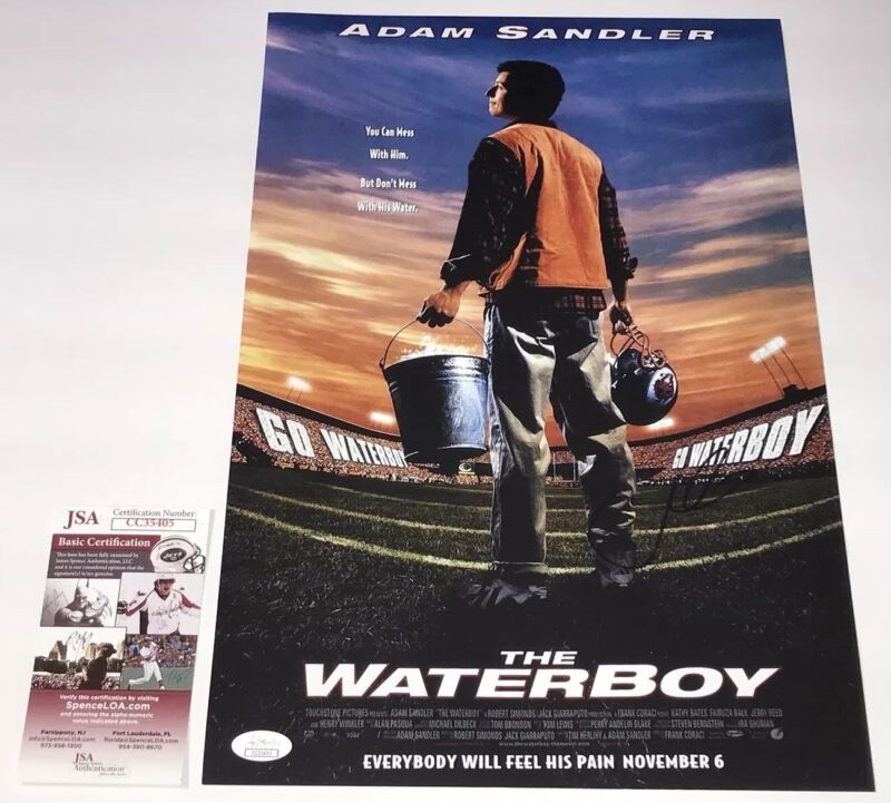 Adam Sandler Signed THE WATERBOY 11x17 Photo IN PERSON Autograph JSA COA