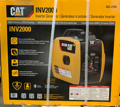 Cat Inv2000 Quiet 1800w Running Gas Portable Inverter Generator 522-2700