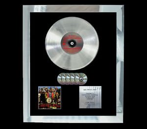 BEATLES SGT PEPPERS MULTI (GOLD) CD DISC ALBUM RECORD AWARD DISPLAY FREE P+P!