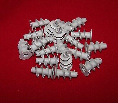 20 Stück Gipskartondübel Kunststoff Hohlraumdübel Rigipsdübel Dübel 25 mm