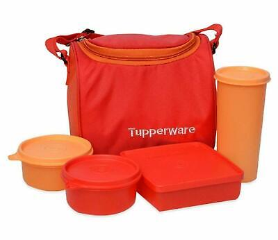 Tupperware Best Lunch Set Orange Food Container With Bag 4 Pcs Set Free