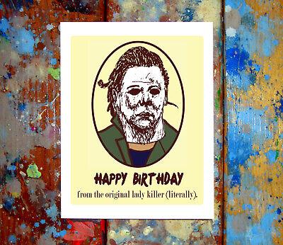 Michael Myers Birthday Greeting Card Halloween Horror Slasher 90s 80s Killer