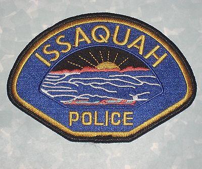 "Issaquah Police Patch - Washington - 5"" x 3 3/8"""