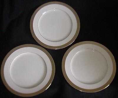 Lot 3 Ralph Lauren Salad Lunch Plates Chain Bracelet Platinum - Discontinued Bracelet White Salad Plate