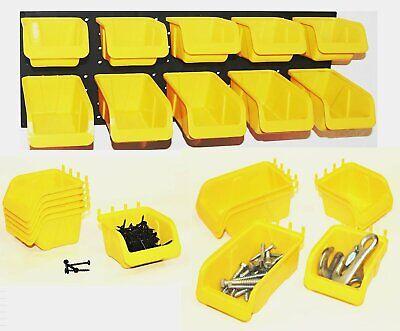 Pegboard Bin Kit 8 Pack Storage Parts Craft Organizer Workbench Bins Accessories