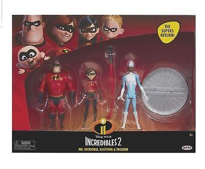The Incredibles Elastigirl (NIP New 3 pk The Incredibles 2 Mr. Incredible Elastigirl & Frozone 4 Inch)