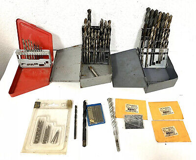 Drill Bit Lot 2 Huot Drill Index Sets Mac Tools Hs New York Usa Hss More