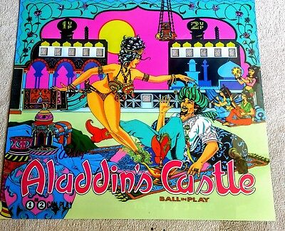 Williams Aladdin's Castle Pinball Machine Translite  Backglass