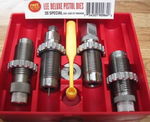 LEE Deluxe Carbide 4 Die Set 38 Special 357 Magnum 90964 w New Style Lock Rings