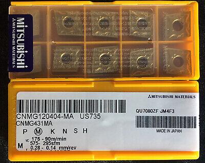 Mitsubishi Cnmg431ma Cnmg120404ma Us735 Carbide Inserts 10 Pcs