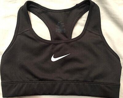 Black Classic Nike DRI-FIT Sports Bra Size Extra Small #53