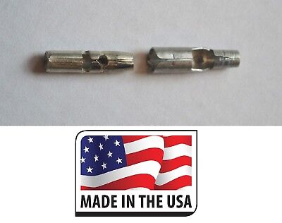 "(100) 16-14 BULLET CONNECTOR MALE ~ FEMALE NON INSULATED .157 5/32"" MADE IN USA"