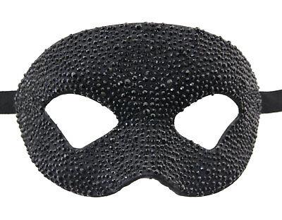 Mask from Venice Colombine Crystal Black Rhinestone Swarovski Luxury Paper Mache