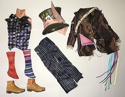 Alice Through the Looking Glass Mad Hatter Ken Doll Outfit Clothes Shoes Hat NEW