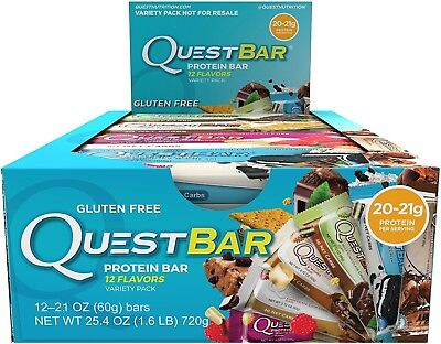 Quest Nutrition Protein Bar, Best Seller Variety Pack, 12 Flavors, Tasty