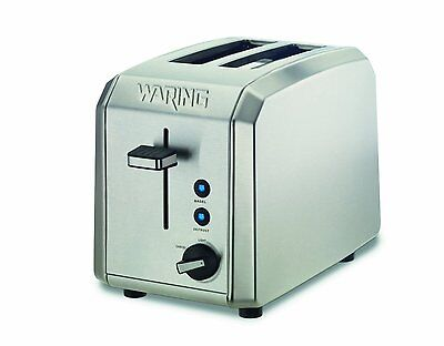 Waring WT200 Proficient 2-Slice Toaster, Brushed Stainless Steel Refurbished