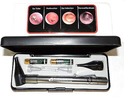 Dr. Mom Slimline Led Otoscope In Hard Case W 2 Lighted Ear Picks
