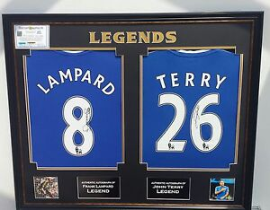 * Rare John Terry and Frank Lampard of Chelsea Signed Shirt Autograph Display *