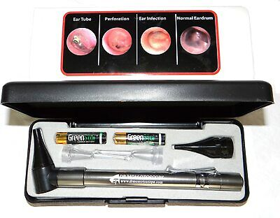 Brand New - Now With Ear Curettes Dr Mom Stainless Led Otoscope In Hard Case