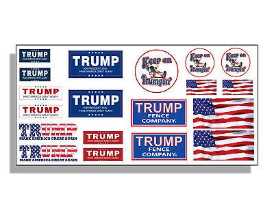 Trump Hard Hat Sticker Pack Set USA American Flag POTUS 19 mini decal helmet