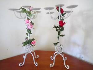 Stunning Wrought Iron Candle Holders (12 Available) Rosemeadow Campbelltown Area Preview