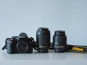 Nikon D5200 with TWIN LENS kit (18-55 + 55-200), Nikon bag + more Balgownie Wollongong Area Preview