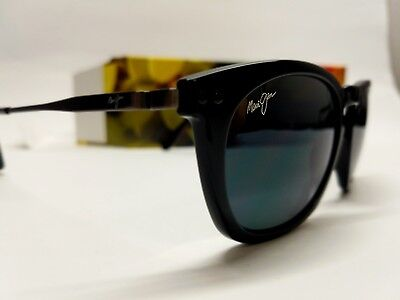 NEW Maui Jim Holoholo Gloss Black W Grey POLARIZED Lens Sunglass womens men uni