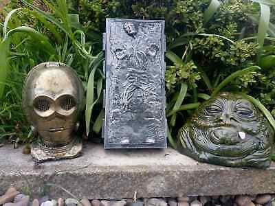 Star Wars Jabba The Hutt C3-PO & Solo In Carbonite Ornaments -Free UK P&P