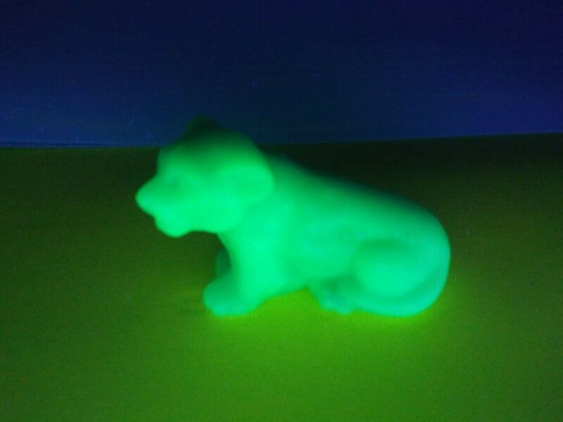 Tommy the Tiger Boyd Glass Aruba Slag Uranium glass #23 first series (8-24-00)