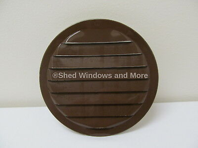 """Aluminum Vent Round 6"""" Brown with screen Sheds Playhouse Chicken Coops treehouse"""