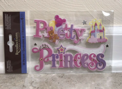 Recollections PRETTY PRINCESS Dimensional Scrapbook Craft Sticker Pack - $8.05