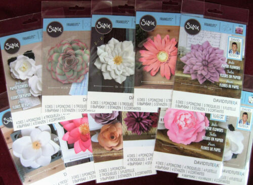 Sizzix Framelits, Paper Flowers by David Tutera, (You Choose), NEW Variety/Dies