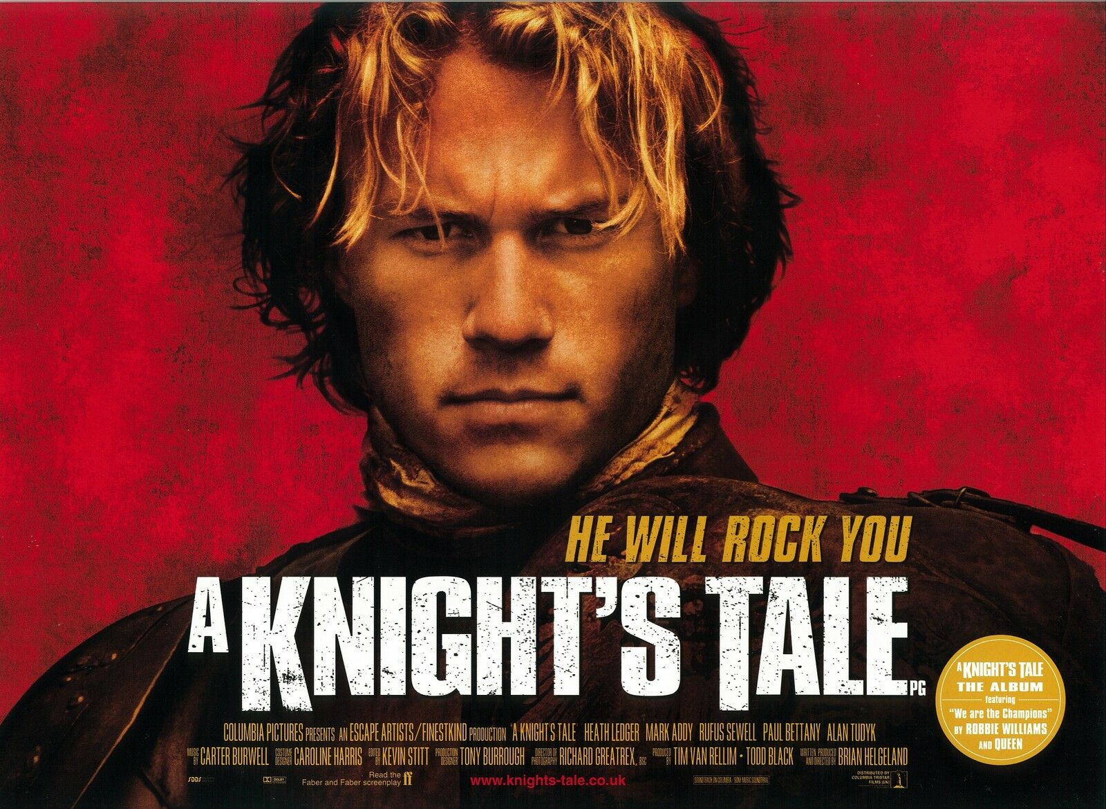 A Knight's Tale Movie Poster - Heath Ledger Poster - 12 X 16 Inches