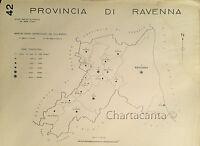 1938 Comuni Provincia Ravenna Carta Topografica Russi Cervia Alfonsine Solarolo -  - ebay.it