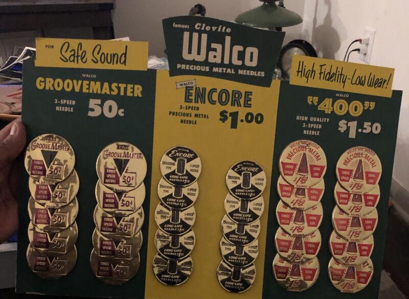 Walco Store Display Needles  Rare Record Advertising 30 Needles
