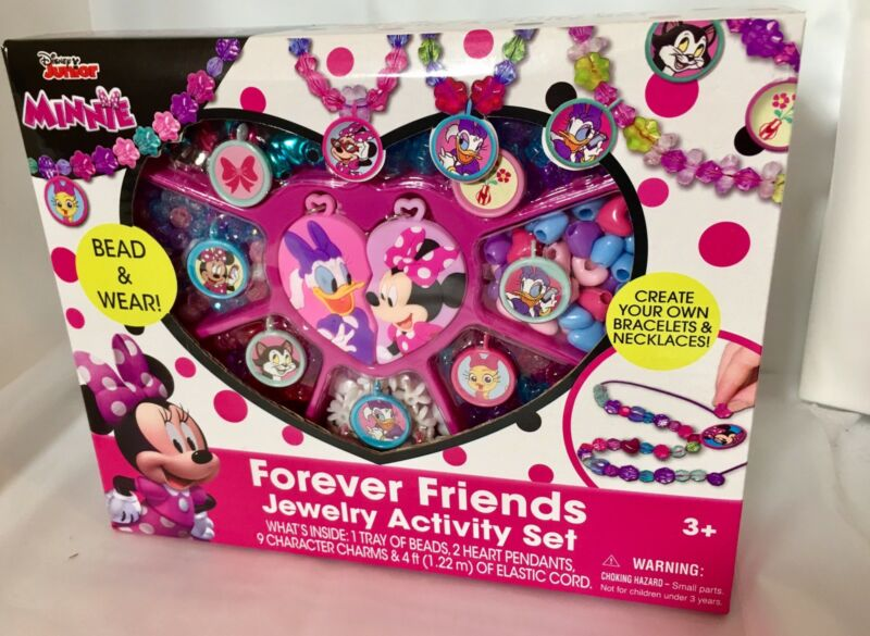 Disney Junior Minnie Forever Friends Jewelry Box Kit Activity Play Set Gift New