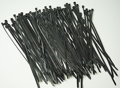 50 Lb Heavy Duty 100 Pc. 8 Long Black Uv Cable Zip Ties Ty Wraps Made In Usa