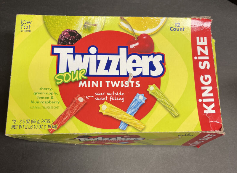 Sour Twizzlers mini twists King Size Packs -10