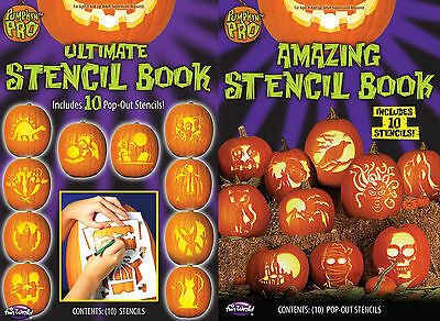 10 Piece Ultimate or Amazing Stencil Pumpkin Carving Book Halloween Crafts fnt - Amazing Halloween Pumpkin Carvings
