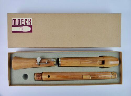 Vintage Moeck Tenor Recorder Maple wood Tuju #242 Barocke with box