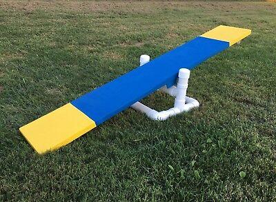 dog agility equipment mini teeter training with 6 ft. board