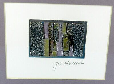 MERRI PATTINIAN Framed & SIGNED Original ABSTRACT ART COLLAGE Mixed Media