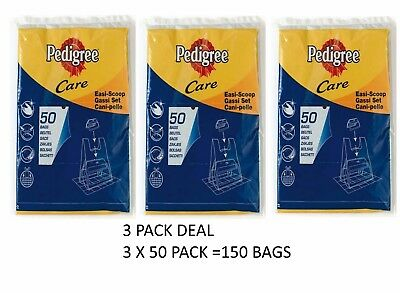 150 PEDIGREE EASI SCOOP REFILL BAG S DOG POO MESS CITRUS SCENTED WITH  HANDLES