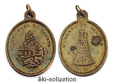 Medal Religious Santa Casa Di Loreto. Madonna Di Loreto. 19th° .Bronze