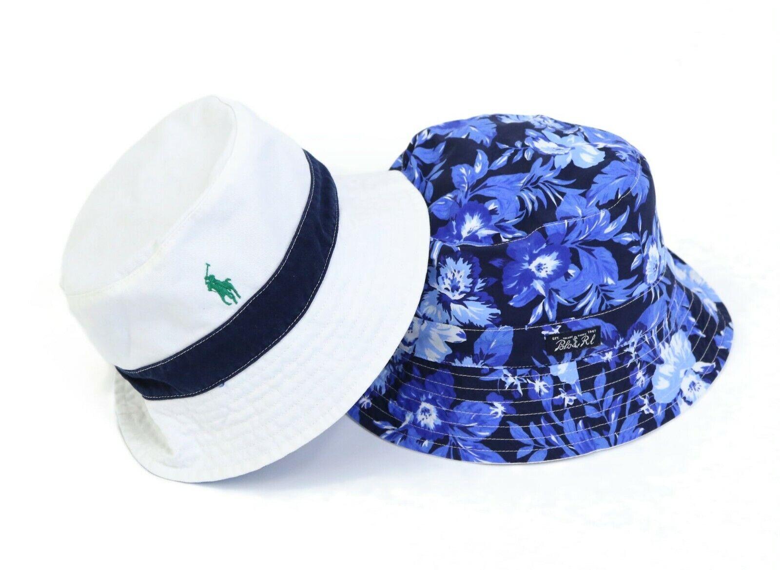 Polo Ralph Lauren Safari Bucket Hat Cap  Floral Aloha Polka Dot  2 colors