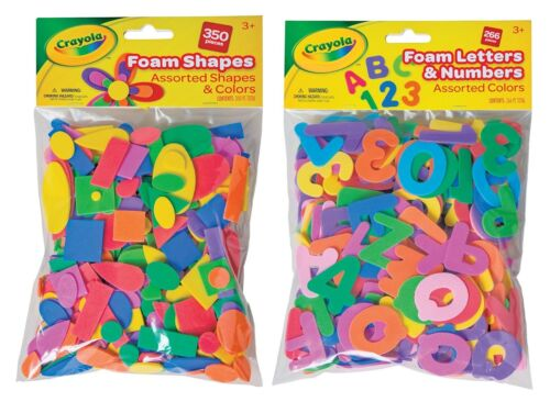 Crayola Wonderfoam Foam Assorted Shapes 350pc, & Letters & Numbers 266pc Lot Set