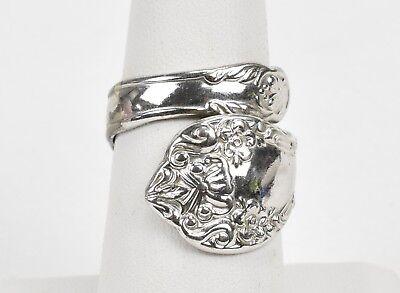 Vintage Silver Spoon Ring Size 7